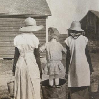 Hard working farm girls - Photographs
