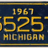 1967 - Motorcycle License Plate (Michigan)