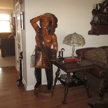 Vintage 6 Foot Cigar Indian Statue - Tobacciana