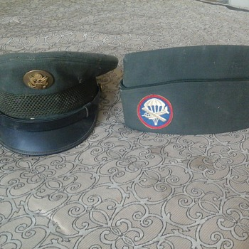 Vintage WW2 U.S. Miltary Hats - Military and Wartime