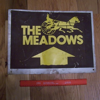 """The Meadows"" Racetrack  tin sign - Advertising"