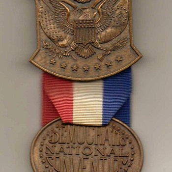1976 - Democratic Nat. Convention Alternates Medal / Ribbon - Medals Pins and Badges