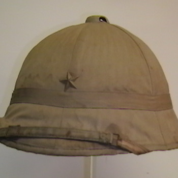 Original WW II Japanese Sun  Helmet - Military and Wartime