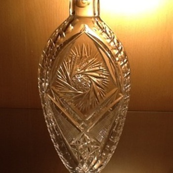 Crystal flask  - Art Glass