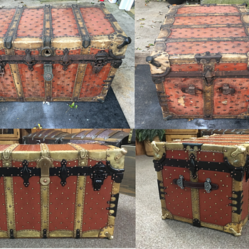 BB&B Vulcanized Fiber And Rawhide Trunk 1890's to 1910 ? - Furniture