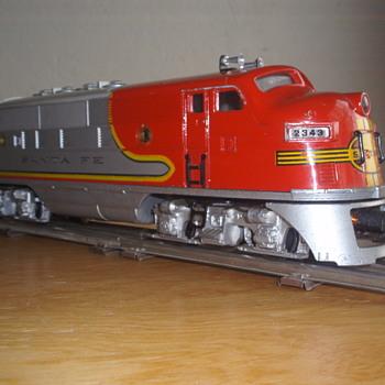 LIONEL SANTA FE UNITS # 2343P, 2343T, 2343C 1950's - Model Trains
