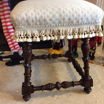 Italian hand carved bench
