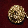 Wingback Brooch Pin from 1940's W/ Czechoslovakian Stones Pat. No