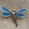 Meyle & Mayer Dragonfly Lady Fairy Enamel Brooch