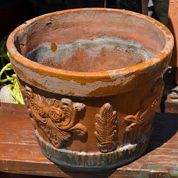 An Old Mexican Flower Pot - Pottery