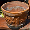 An Old Mexican Flower Pot