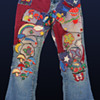 California 60s 70s Hippie Patchwork Bellbottom Flare Handmade Jeans discovered in Pasadena CA