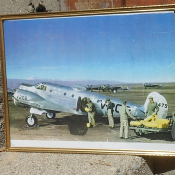 Beechcraft AT-11 Bomber Trainer Vintage Framed Photo - Military and Wartime