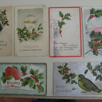Old Christmas Postcards and Cards - Cards
