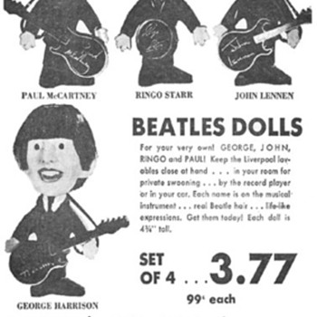 Beatles dolls by Remco-1964 - Music Memorabilia