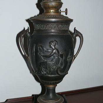 a german brass oil lamp? - Lamps