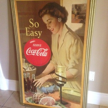 300th post,, 1950's Canadian Coca Cola cardboard  - Coca-Cola
