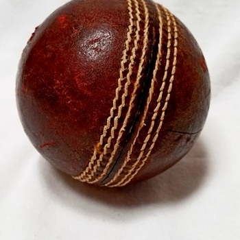 Traditional Red Leather Six-Stitch Cricket Ball, 45+ yrs - Sporting Goods