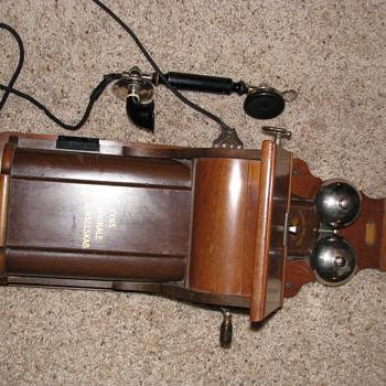 Old Scandinavian wooden wall telephone - Telephones