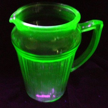 Vaseline -- Depression Glass Pitcher - Glassware