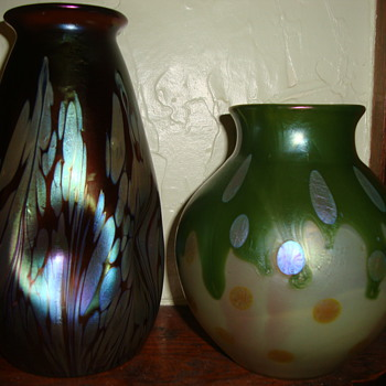 Loetz vases...hopefully better picture - Art Glass