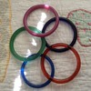 Peking Glass bangles and rings for baskets