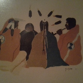 Early 1920's Native American Water Color Drawings - Native American