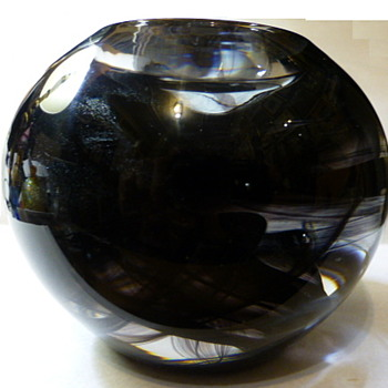 Kosta Boda Cool Moon candle holder and paperweight - Art Glass