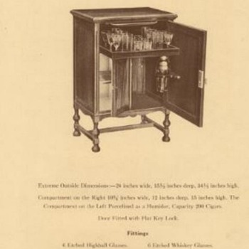 Ferguson Brothers 1928 Cellerette with Humidor - Furniture