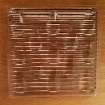 Vintage Prismatic Glass Tile - Art Glass