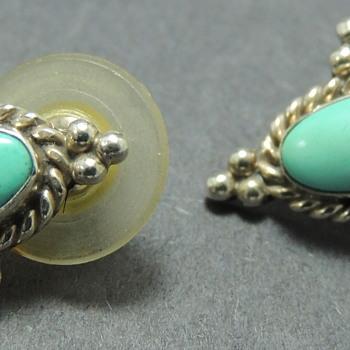 Turquoise & Sterling - Earrings  - Fine Jewelry