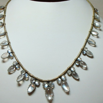 Antique Moonstone Necklace  - Fine Jewelry