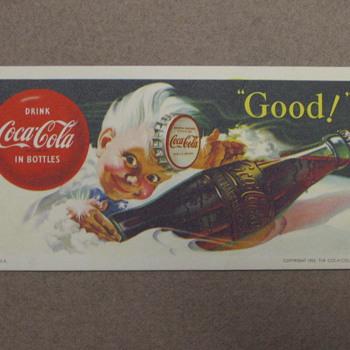 Coca-Cola Kid Blotter - Coca-Cola