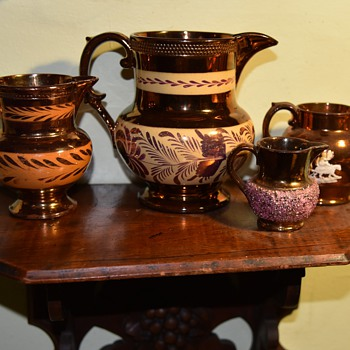 Copper Luster Pitcher - large - Pottery