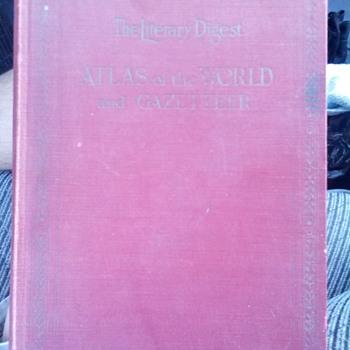 1929 World Atlas and Gazetteer - Books