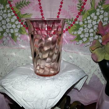 1934 Hazel-Atlas #1552 Tumbler Design Patent D 94100-1  - Glassware