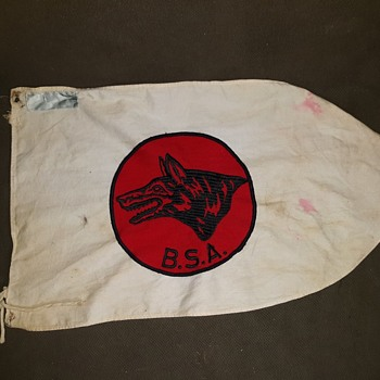 Saturday Evening Scout Post Boy Scout Wolf Patrol Flag Circa 1960 - Sporting Goods