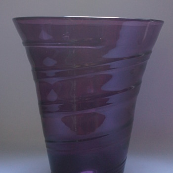 Whitefriars Ribbon Trail Vase - Art Glass