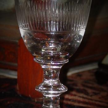 Georgian Wine/Claret Glass Circa 1825 - Glassware
