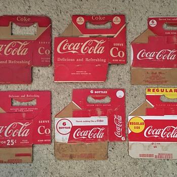 1950s Cardboard Coca-Cola Cartons - Coca-Cola