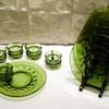 Green Colony Glass Snack Set