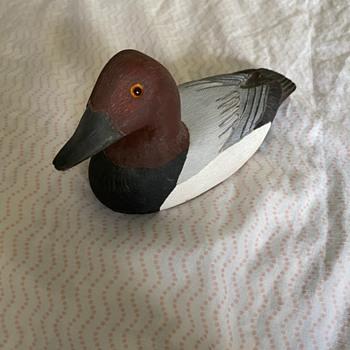 Wooden Decoy Duck - Folk Art