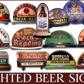 1930's-40's lighted beer signs