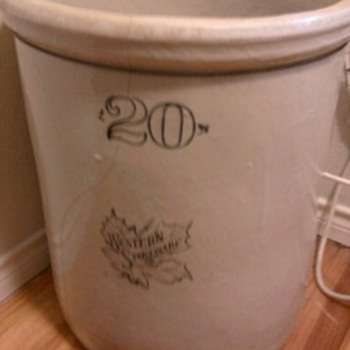 20 gallon stoneware crock - China and Dinnerware