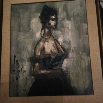 Absract Oil Painting Spanish Lady  - Fine Art