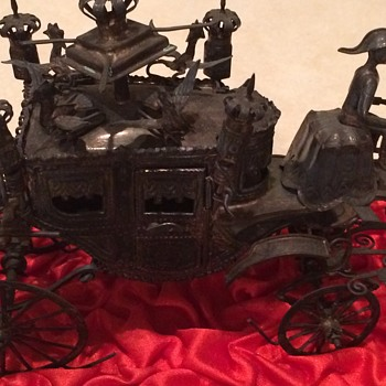 Sterling Silver Coach and Horses  A flea market find A good deed pays off - Silver