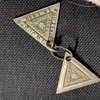 Love, Purity , Fidelity- Masonic pendants circa 1888 - Fine Jewelry