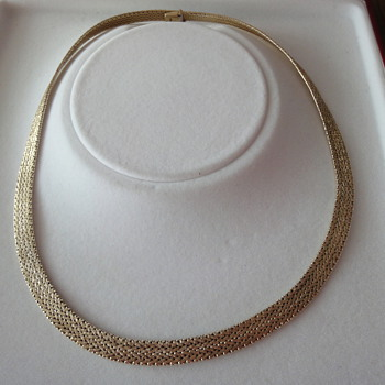 Vintage 14K yellow gold choker - Fine Jewelry