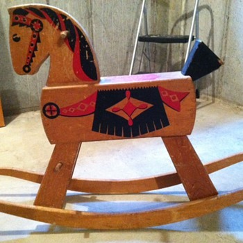 Vintage/antique folk art rocking horse - Folk Art