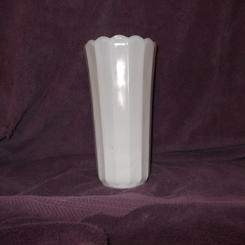 Unidentified Milk glass vase - Glassware